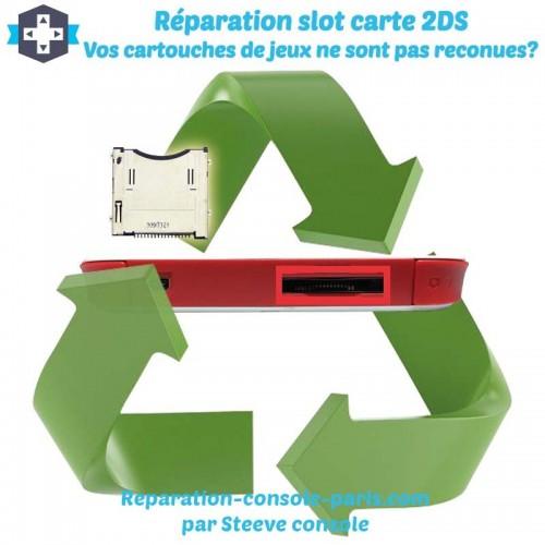Réparation slot carouche de jeux 2DS