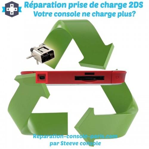 Réparation connecteur prise de charge 2DS