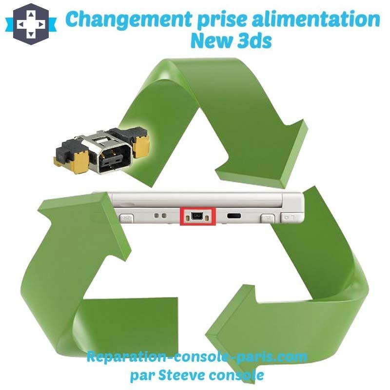 Réparation connecteur prise d'alimentation new 3DS