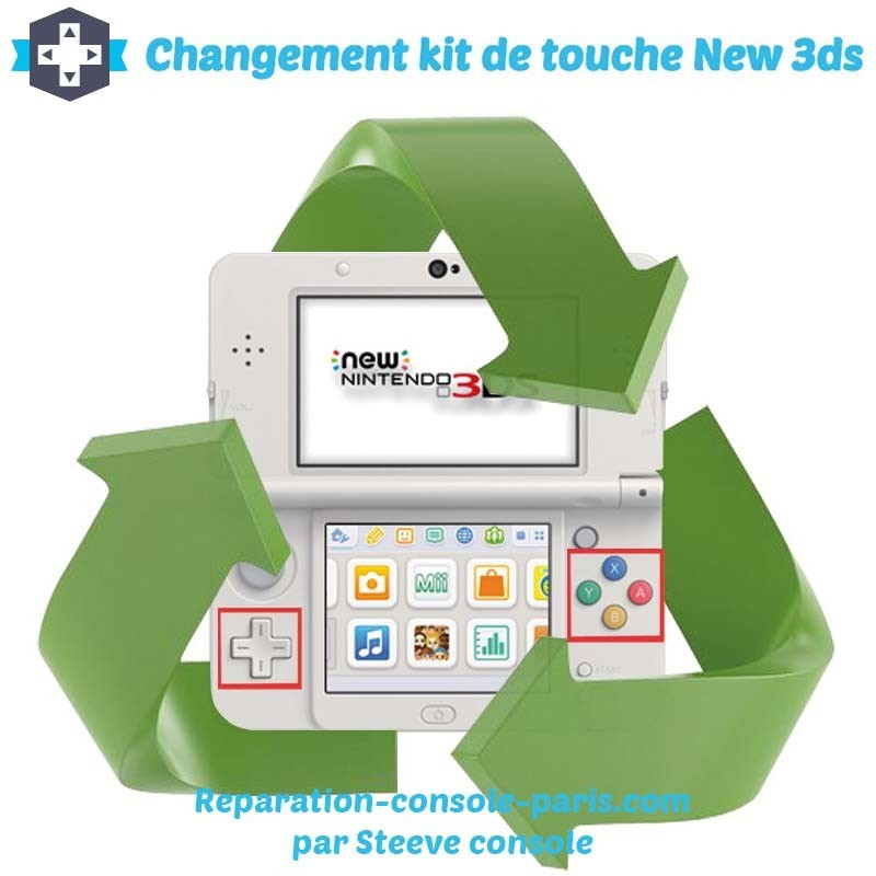 Réparation kit de touche new 3DS