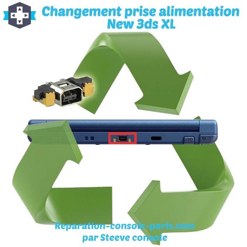 Réparation connecteur prise d'alimentation new 3DS XL