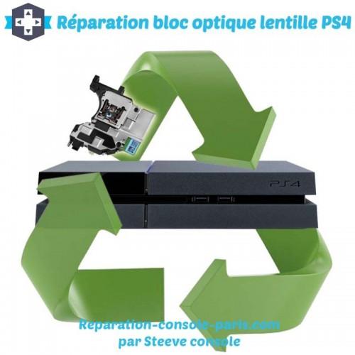 Réparation bloc optique lentille PS4 jeux non reconnus