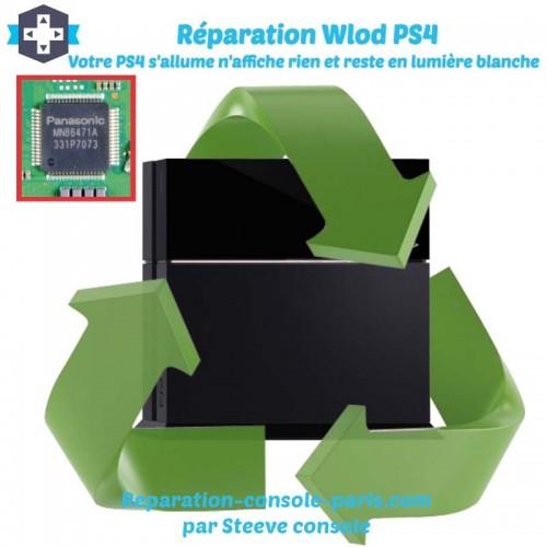 Réparation PS4 circuit HDMI lumière blanche