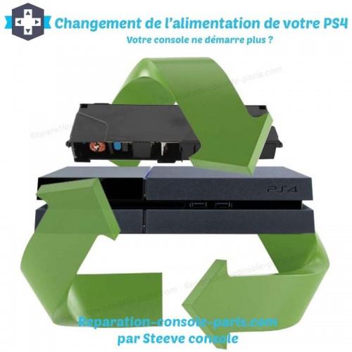 Changement d'alimentation PS4