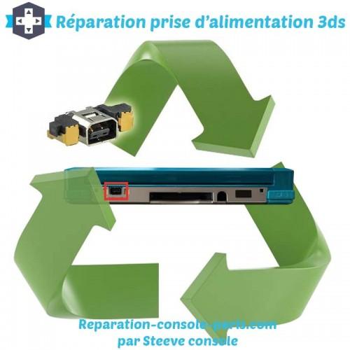 Réparation connecteur de charge prise d'alimentation 3DS