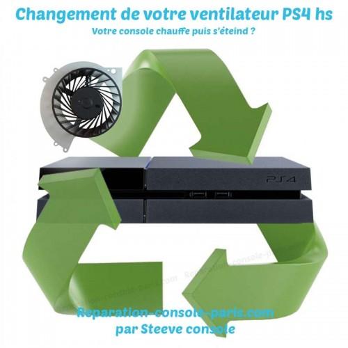 Réparation PS4 bruyante ventilateur HS