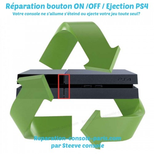 Réparation bouton ON OFF éjection PS4
