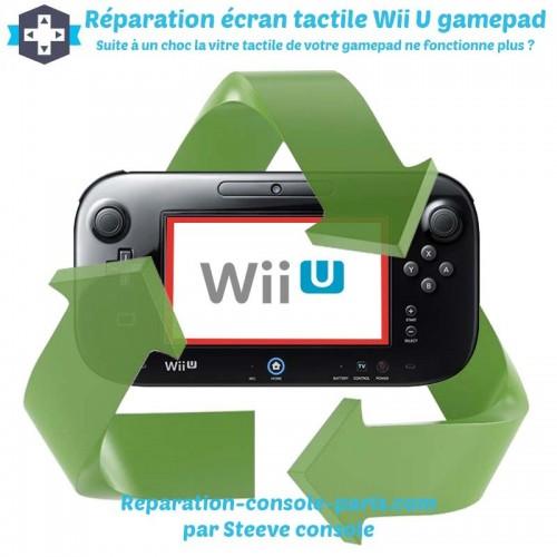 Réparation vitre écran tactile Wii U Gamepad