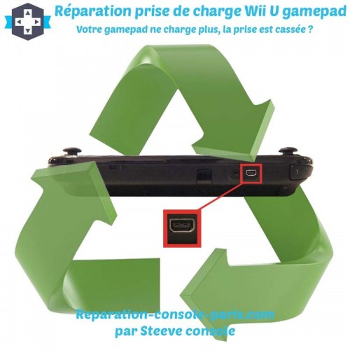 Réparation prise alimentation Wii U gamepad qui ne charge plus