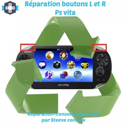 Réparation boutons L et R Ps vita