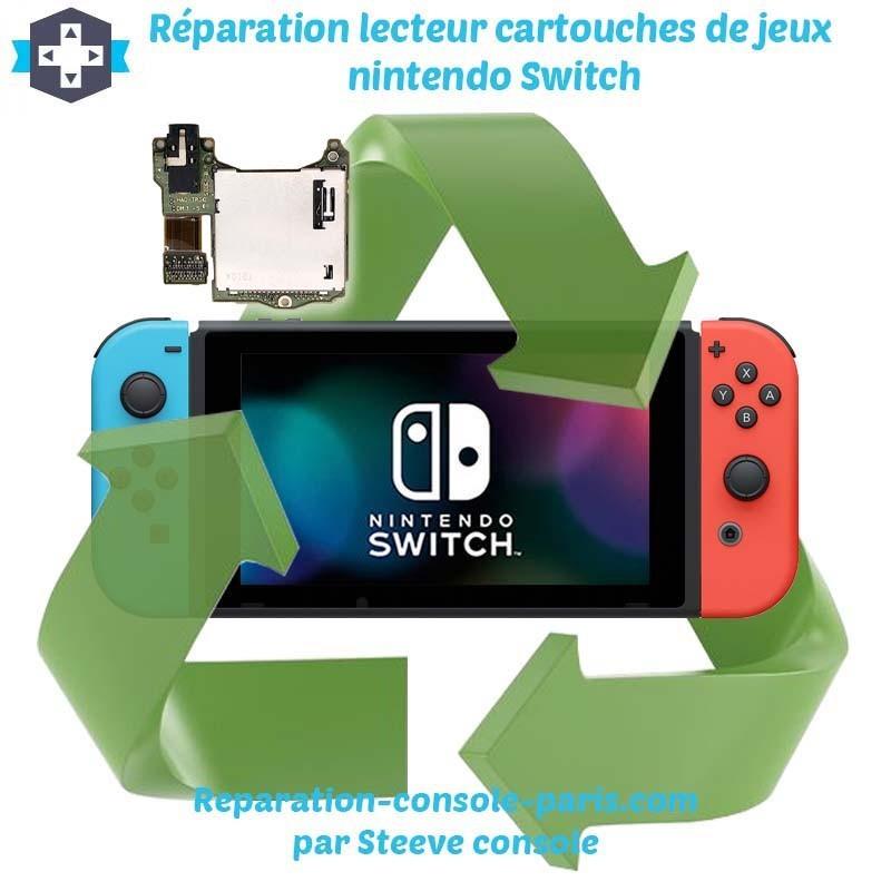 Réparation lecteur cartouches de jeux nintendo switch