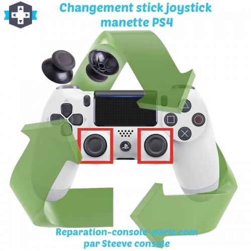 Changement stick joystick manette PS4