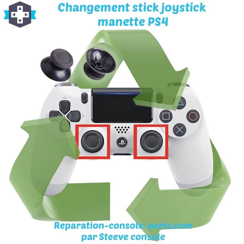 Changement stick joystick manette PS4