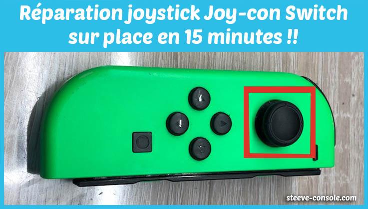 Réparation joystick joy-con switch sur Paris sans rendez-vous chez steeve console.
