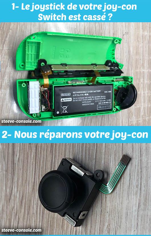 Remplacement du joystick joy-con Switch Paris.