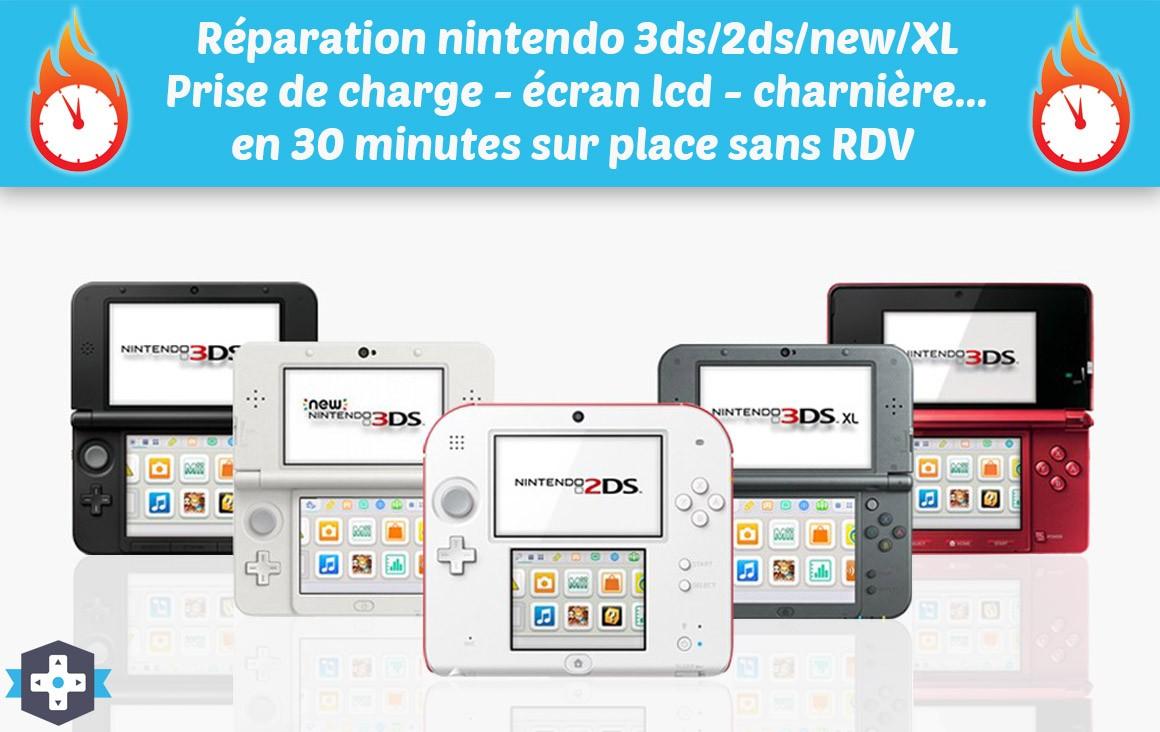 Réparation de toutes vos consoles 3ds et 2ds sur paris
