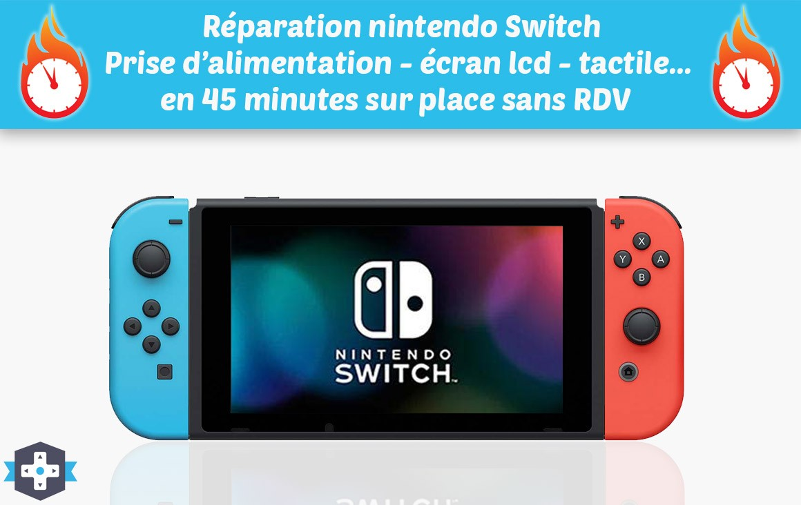 Réparation console nintendo Switch sur Paris